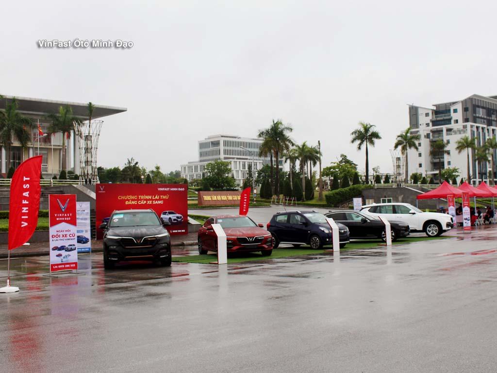 Sự kiện trưng bày lái thử được Vinfast Minh Đạo tổ chức tại Trung tâm hội nghị tỉnh Cao Bằng