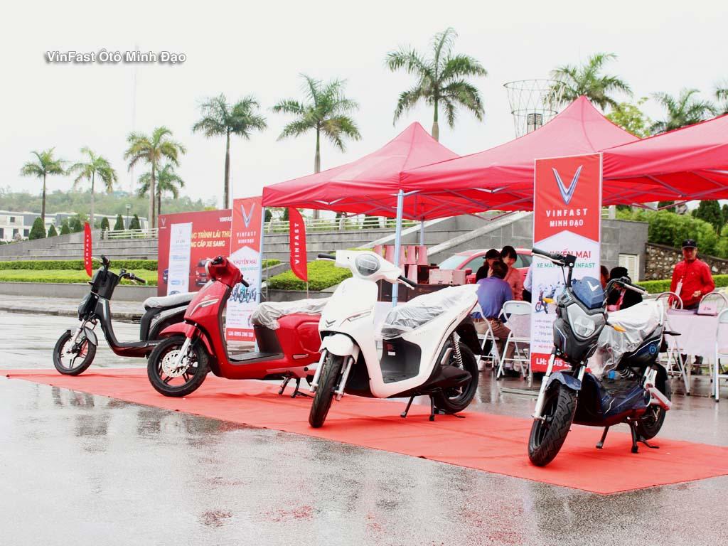 Những mẫu xe máy điện Vinfast do đại lý Vinfast Minh Đạo mang tới sự kiện