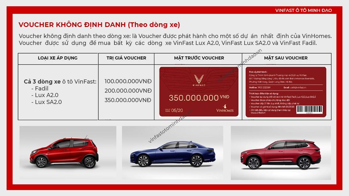 voucher mua xe vinfast không định danh theo dòng xe